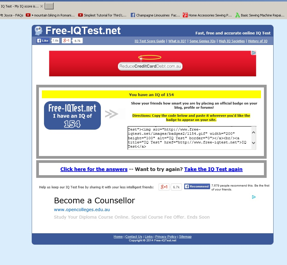 Quick Free IQ Test